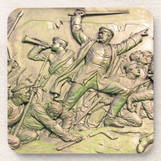 Prussian Soldiers Battle Scene, Sepia Tint(4) Coaster