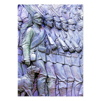 Prussian Soldiers,Marching (5) Large Business Card