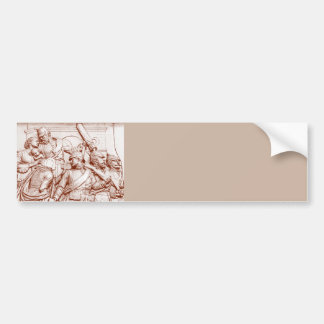 Prussian Soldiers Woman Baby Brown Tint Bumper Sticker