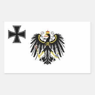 Prussian War Flag Rectangle Sticker
