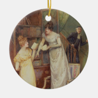 Prying Eyes, 1901 (w/c heightened with white) Double-Sided Ceramic Round Christmas Ornament