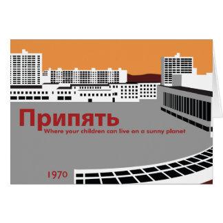 Prypyat Propaganda style Card