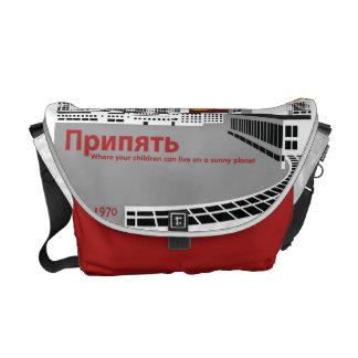 Prypyat Propaganda style Courier Bag