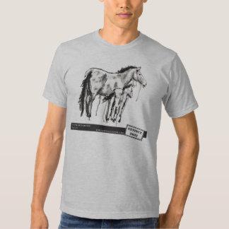 Przewalski's Horse, by Laura Lark T Shirts