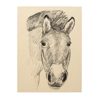 Przewalski's horse wood print
