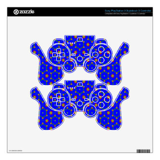 PS3 Controller Skin with Blue August Design