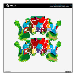PS3 Controller Skin with Colorful Design