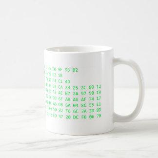 PS3 Encryption Key (Green Text) Coffee Mug