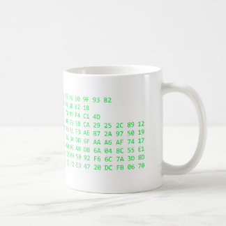 PS3 Encryption Key (Green Text) Classic White Coffee Mug