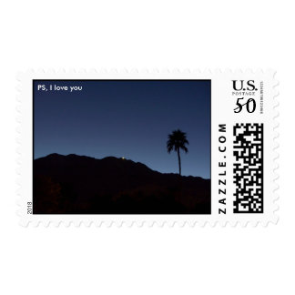 PS, I love you-  Palm Springs in Shadows Postage
