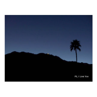 PS, I love you-  Palm Springs in Shadows Postcard