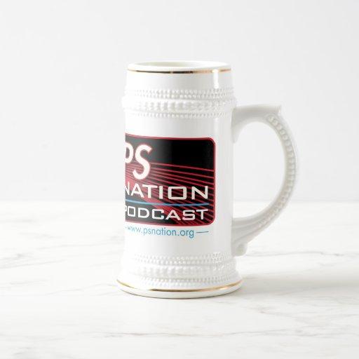 PS Nation Beer Stein 18 Oz Beer Stein