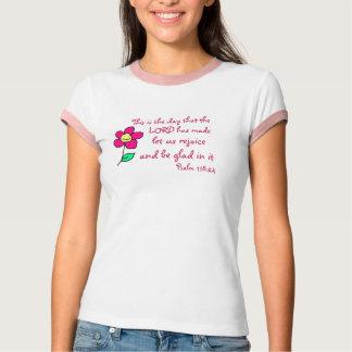 Psa 118:24/ Flower Tee Shirts