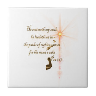 Psa 23.3 The Lord is my shepard Ceramic Tile
