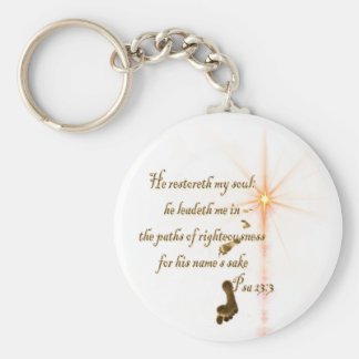 Psa 23.3 The Lord is my shepard Keychain