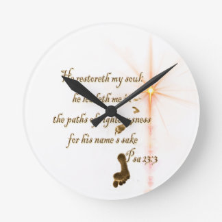 Psa 23.3 The Lord is my shepard Round Clock