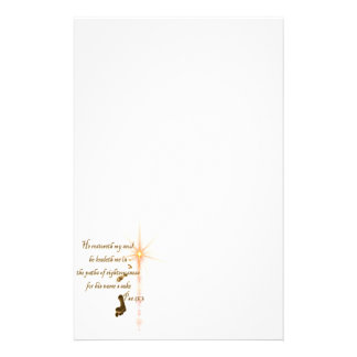 Psa 23.3 The Lord is my shepard Stationery