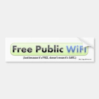 PSA Free Public WiFi Bumper Sticker (White)