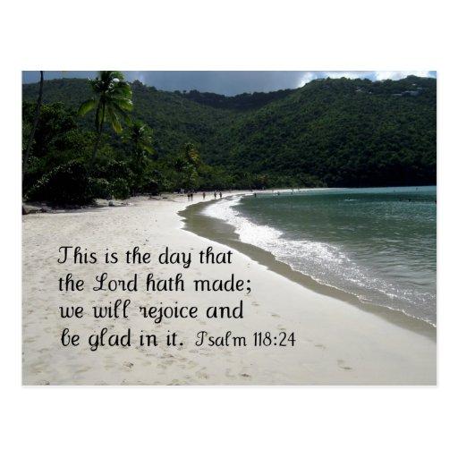Psallm 118:24 post card