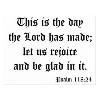 Psalm118:24 Postcard