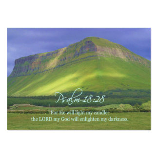 Psalm18:28 Personal Inspirational Cards Large Business Cards (Pack Of 100)