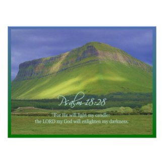 Psalm18:28 Poster Print & Cards print