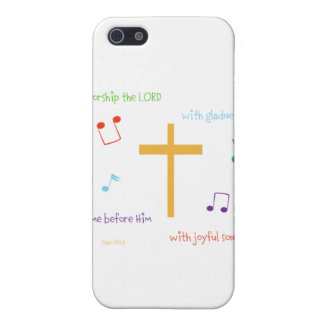Psalm 100:2 case for iPhone 5