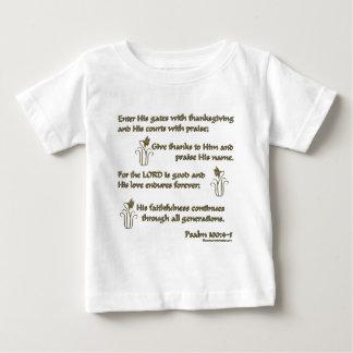 Psalm 100:4-5 baby T-Shirt