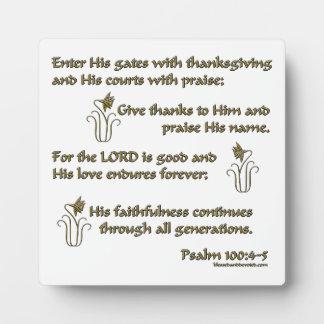 Psalm 100:4-5 plaques