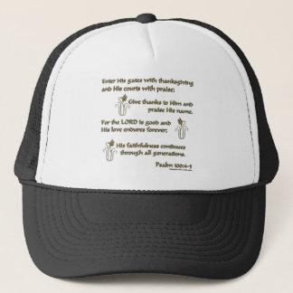 Psalm 100:4-5 trucker hat