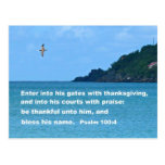 Psalm 100:4 post cards