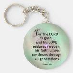 Psalm 100:5 basic round button keychain