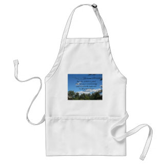 Psalm 100:5 For the Lord is good; His mercy.... Adult Apron