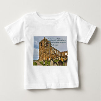Psalm 100:5 Old Stone Church Baby T-Shirt