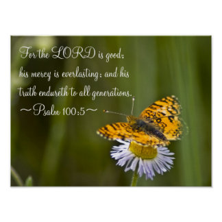 Psalm 100:5 poster
