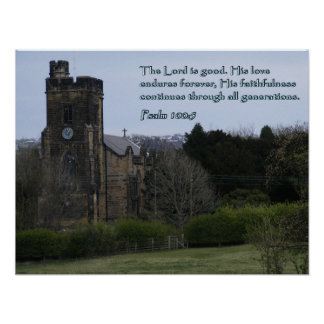 Psalm 100:5 Village Church Poster