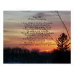 Psalm 100   A Psalm of Thanksgiving Poster