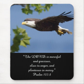 Psalm 103:8 eagle wings flight soar strong love mouse pad