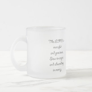 Psalm 103 8 The Lord is  Merciful 1035.01.png Frosted Glass Coffee Mug