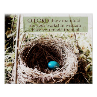 Psalm 104:24 poster