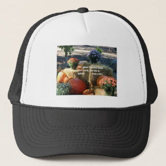 Psalm 107:1 Oh give thanks unto the Lord... Trucker Hat
