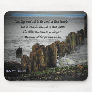 Psalm 107: 28-29 mouse pad