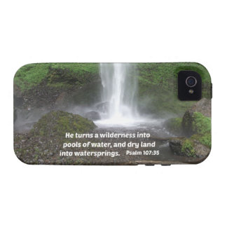 Psalm 107:35 He turns a wilderness into... Vibe iPhone 4 Case