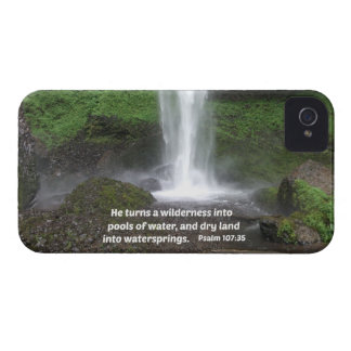 Psalm 107:35 He turns a wilderness into... Case-Mate iPhone 4 Case