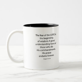 Psalm 111 10 The Feat of the Lord 1034.01 Two-Tone Coffee Mug