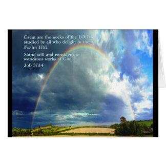 Psalm 111:2  Rainbow Greeting Card