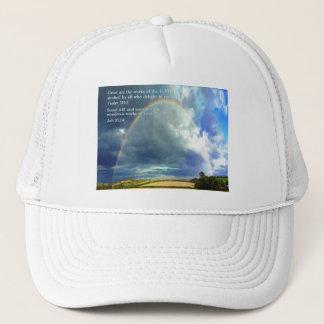 Psalm 111:2  Rainbow Trucker Hat
