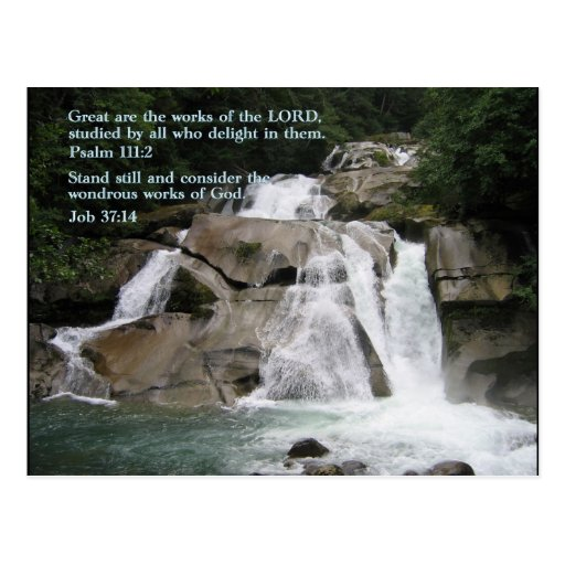 Psalm 111:2  Waterfall Post Cards