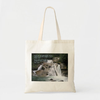 Psalm 111:2  Waterfall Tote Bag