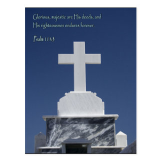 Psalm 111:3 Cross Postcard
